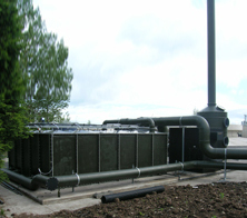 A biofilter and a carbon filter unit
