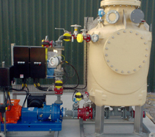 A V-tex scrubber used for reactor vent gas scrubbing at an international pharmaceutical manufacturer in Ireland