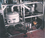Large single stage stainless steel V-tex pilot unit