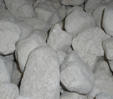 Pumice stone for use in bioscrubbers