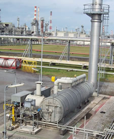 Thermal oxidisers plant