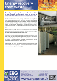 Energy Recover from Waste product flyer