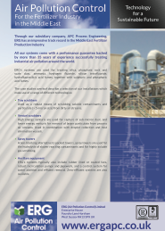 Air pollution control Middle East product flyer
