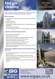 Hot gas cleaning product flyer