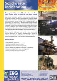 Solid waste incineration product flyer