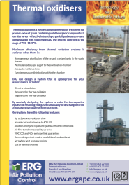 Thermal Oxidisers product flyer